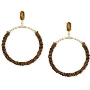 Kendra Scott Russel beaded tigers eye earrings